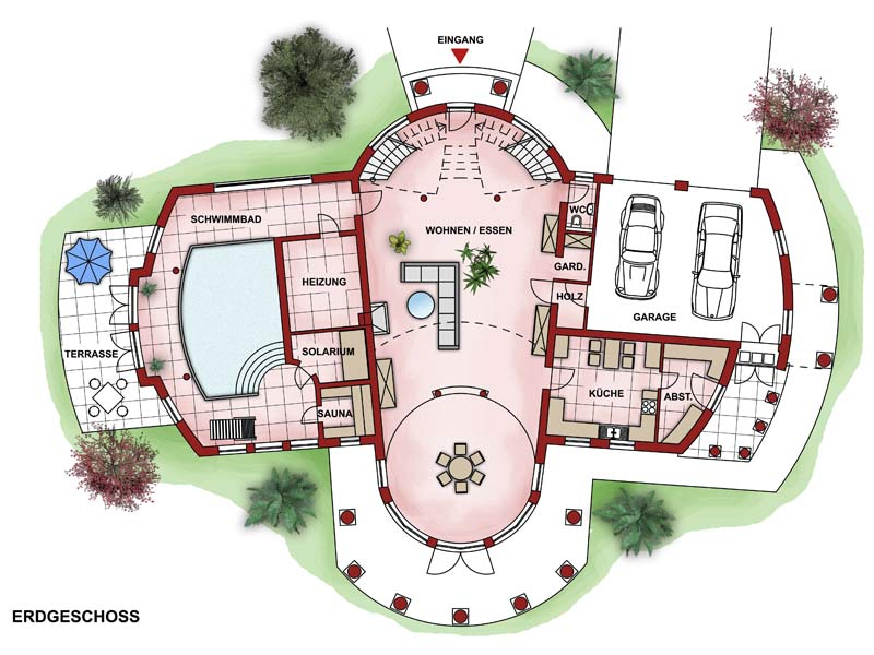 Grundriss villa  Charisma Haus - Villa Ideal